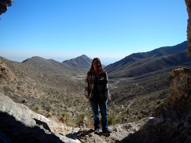 Me in cave along the trail, Ron Coleman Trail, McKelligon Canyon, El Paso, Texas