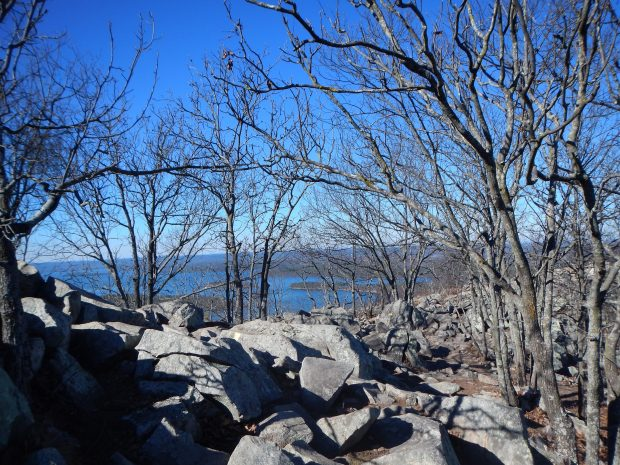 View from just below the top on the descent, Pinnacle Mountain State Park, Arkansas