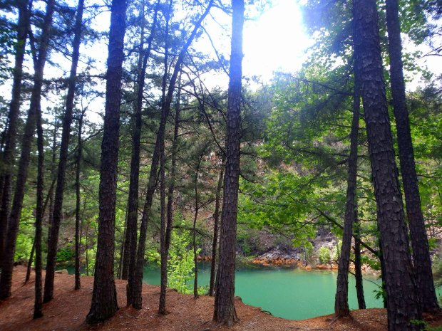 View of East Quarry Lake from Rocky Valley Trail, Pinnacle Mountain State Park, Arkansas