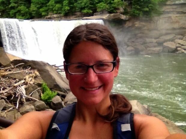 Me near the base of Cumberland Falls, Cumberland Falls State Park, Kentucky