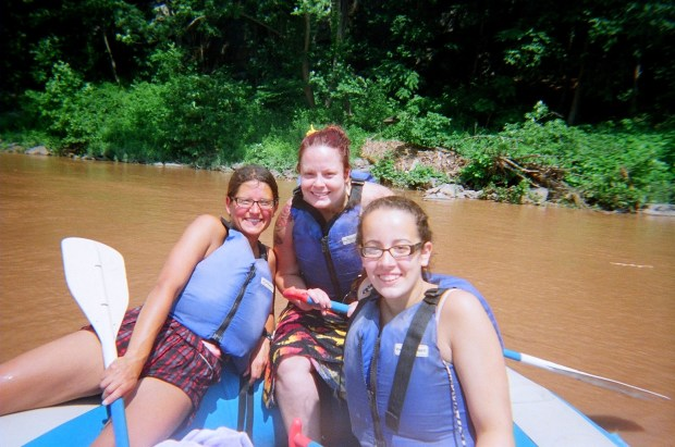Me, Tina, and McKenzie, Delaware River, Pennsylvania/New York