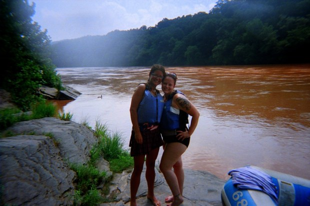 Tina and I, Delaware River, Pennsylvania/New York