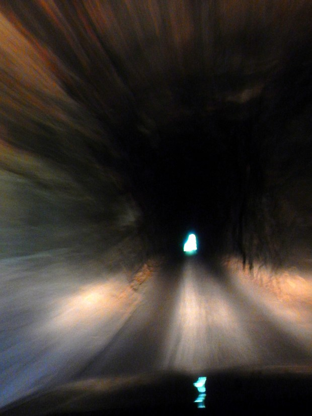 Driving inside the Nada Tunnel, Kentucky Route 77