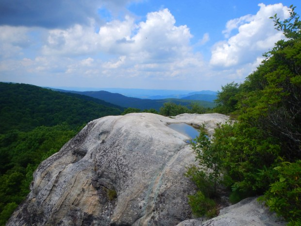 Looking back into Kentucky from White Rocks, Cumberland Gap National Historical Park, Virginia