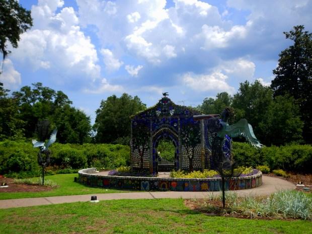 Minnie Evans Sculpture Garden with Bottle Chapel, Airlie Gardens, Wilmington, North Carolina