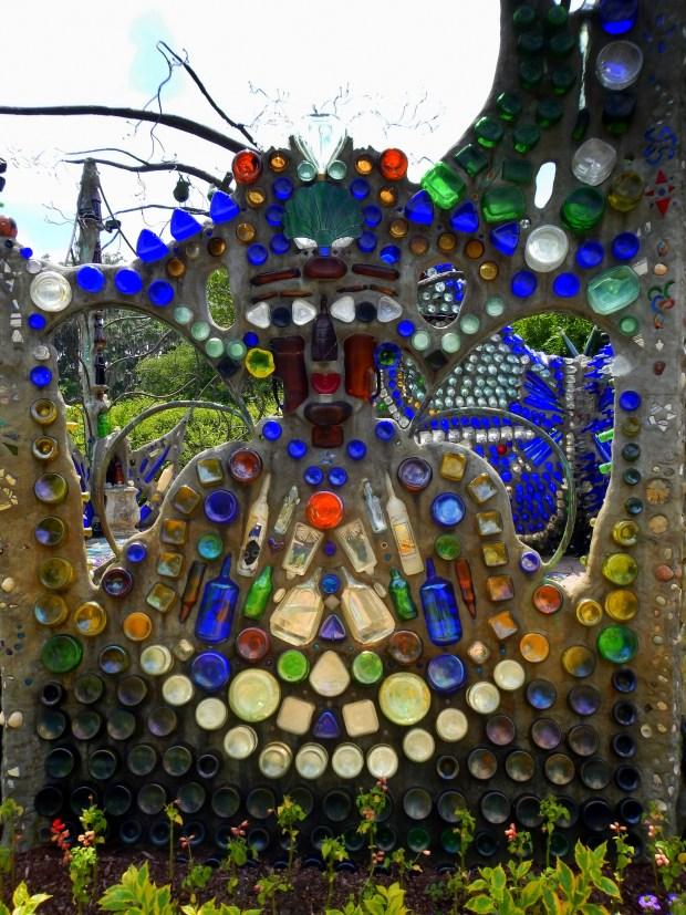 Another face, Bottle Chapel, Minnie Evans Sculpture Garden, Airlie Gardens, Wilmington, North Carolina