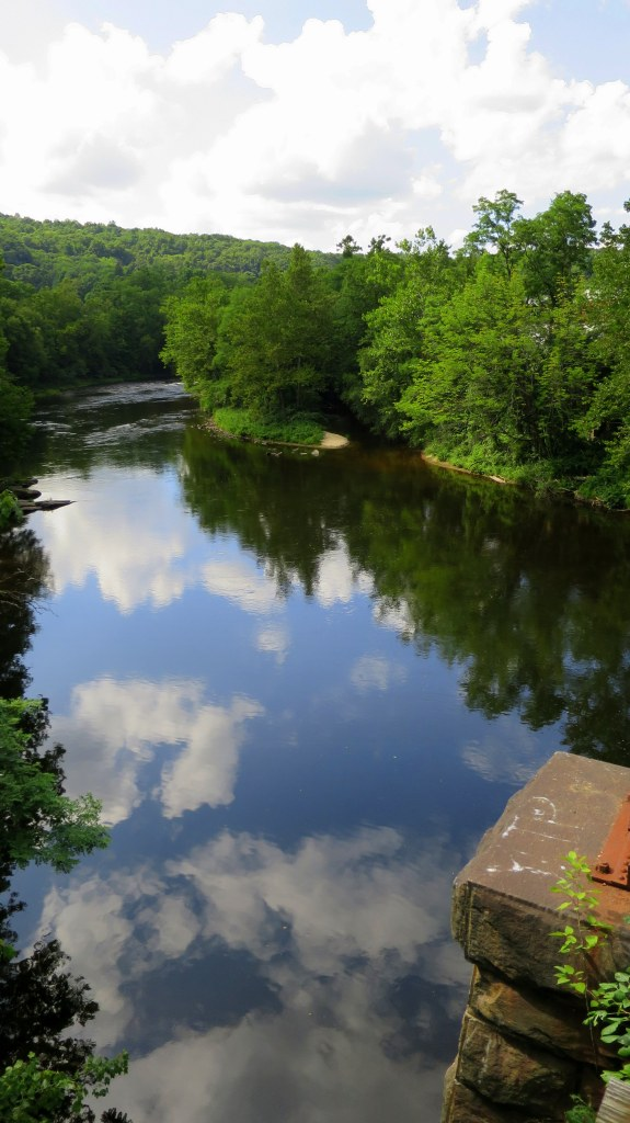 View of the Farmington River from old rail bridge, Collinsville, Connecticut