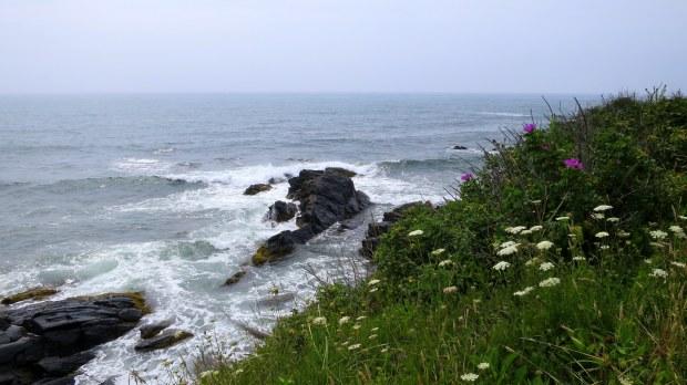 Rocky shore below, Cliff Walk, Newport, Rhode Island