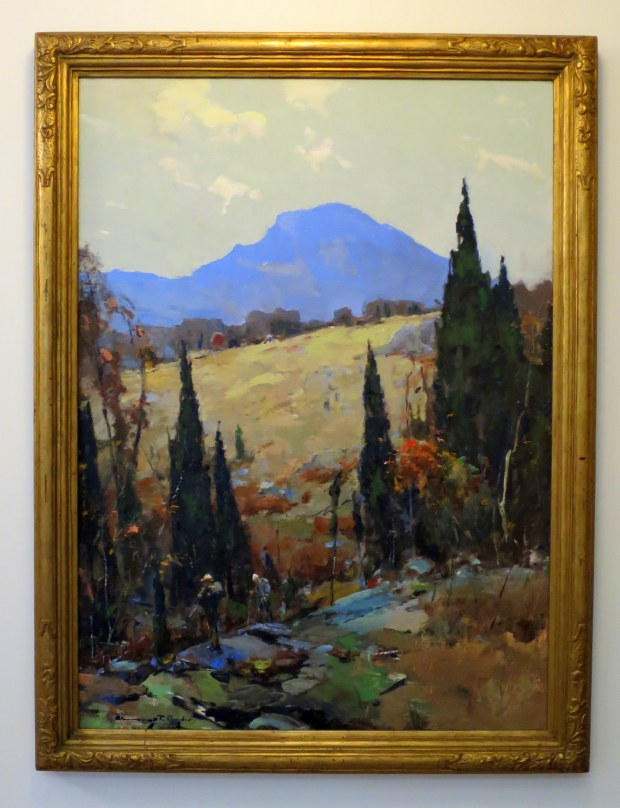 The Long Trail, Chauncey Foster Ryder, 1934, Currier Museum of Art, Manchester, New Hampshire