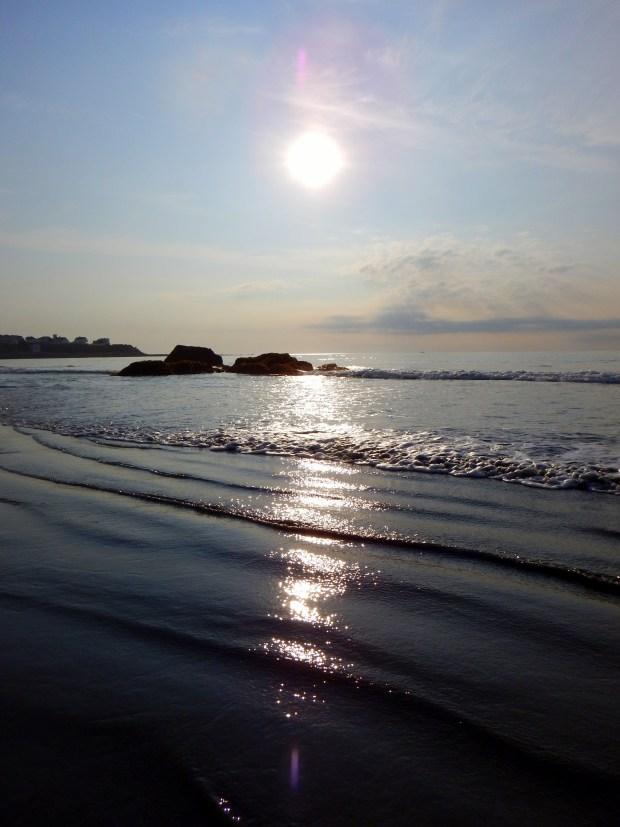 Morning walk on Hampton Beach, New Hampshire
