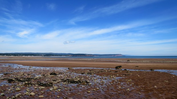 Mudflats at lowtide, West Quaco, New Brunswick, Canada