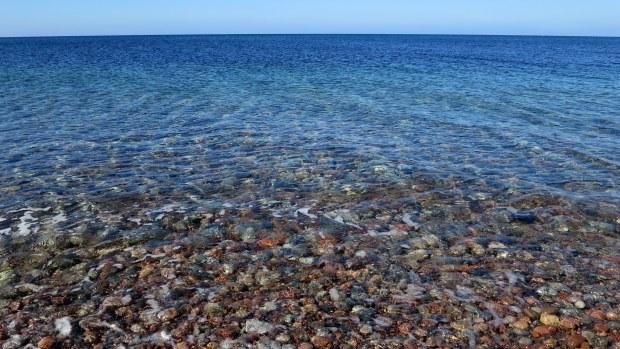 Fantastic colors of the Gulf of St. Lawrence, Pleasant Cove, Nova Scotia, Canada