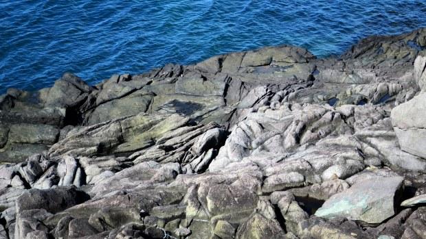 Basalt, Prim Point Lightstation, Digby, Nova Scotia, Canada