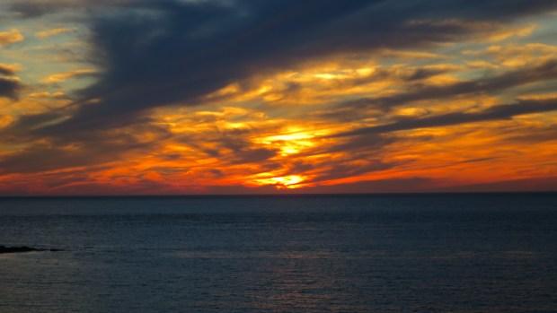 Zoom on sunset, Prim Point Lightstation, Digby, Nova Scotia, Canada