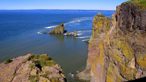 Tip of headland, Cape Split Trail, Cape Split Provincial Park, Nova Scotia, Canada