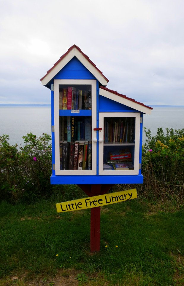 Little Free Library, Port Greville Lookoff, Port Greville, Nova Scotia, Canada