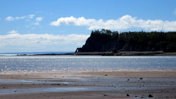 View from beach, Wasson Bluff, Parrsboro, Nova Scotia, Canada