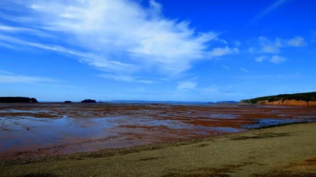 View of Five Islands in the Minas Basin, Five Islands Lighthouse Park, Nova Scotia, Canada