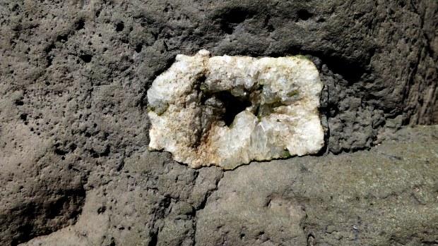Embedded quartz, Five Islands Provincial Park, Nova Scotia, Canada
