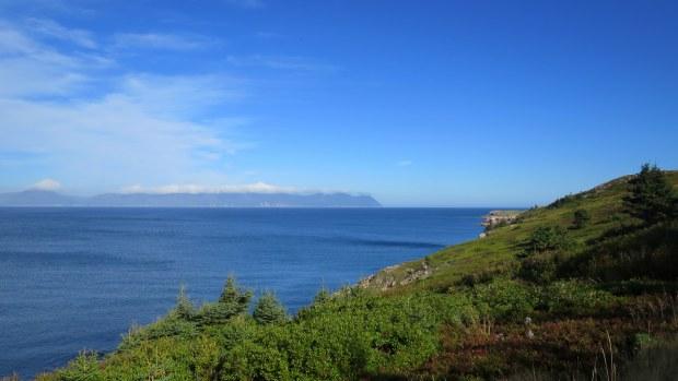Walking out to White Point, Cape Breton Island, Nova Scotia, Canada