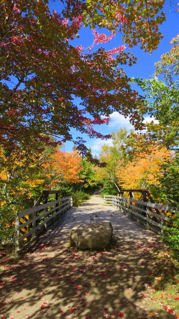 Beginning of Mary Ann Falls Trail, Cape Breton Highlands National Park, Nova Scotia, Canada