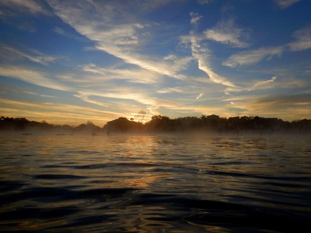 Mist from water level, Crystal River National Wildlife Refuge, Florida