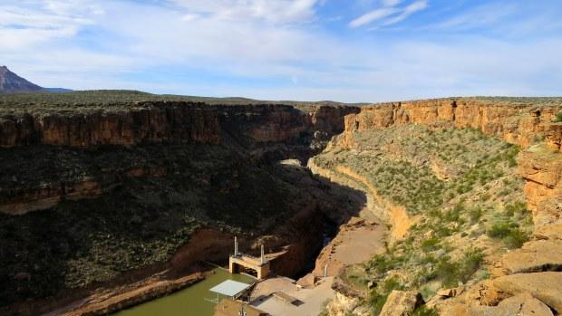 The dam, Virgin River Canyon, Utah