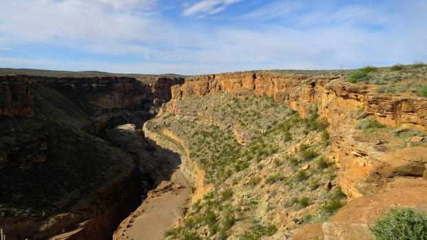 Downstream of the dam, Virgin River Canyon Rim, Utah