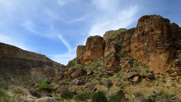 Virgin River Canyon, Canal Trail, Hurricane Cliffs Recreation Area, Utah