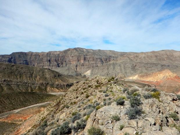 Walking to the end of the ridge, Virgin River Canyon Recreation Area, Arizona