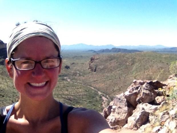 Me on mountain, Ajo Mountain Drive, Organ Pipe Cactus National Monument, Arizona