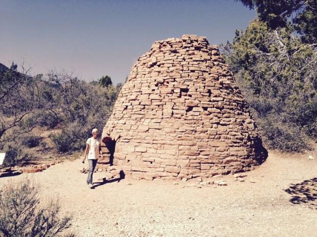 Me walking around the kiln, Leeds Creek Kiln Trail, Dixie National Forest, Utah