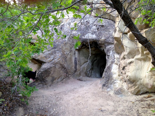 Cave entrance (photo taken by Tom previous year), Cedar City, Utah