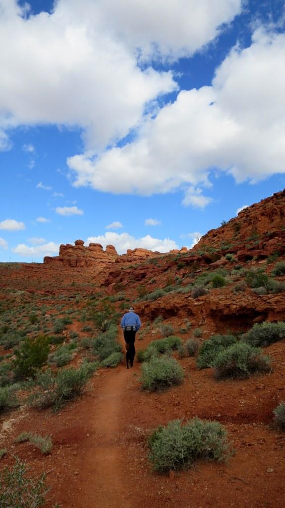 Tom and Abby on Dino Cliffs Trail, Red Cliffs Desert Reserve, Utah