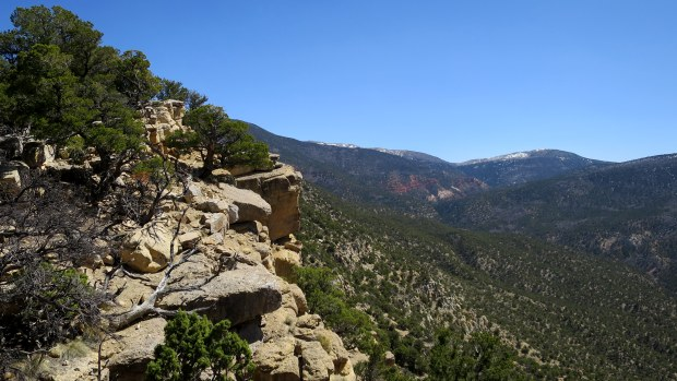 Nearing the top of the mountain, Fiddler's Canyon, Cedar City, Utah