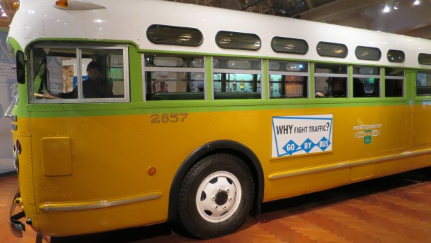 Restored actual bus in which Rosa Parks refused to give up her seat, The Henry Ford, Dearborn, Michigan