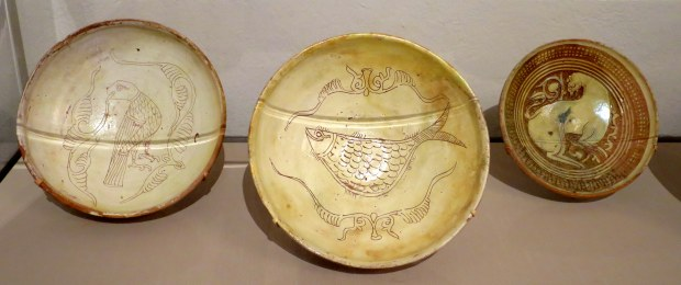 Byzantine terra cotta bowls, 11th - 13th century AD, Detroit Institute of Arts, Michigan