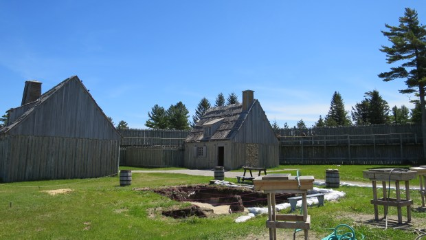 Archaeological excavation, Fort Michilimackinac State Park, Michigan