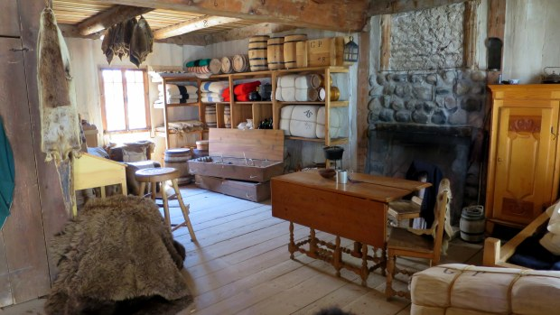 Seasonal living quarters for a trader, Fort Michilimackinac State Park, Michigan
