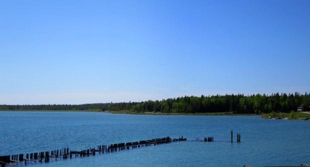 View from the Mackinac Bridge, Michigan