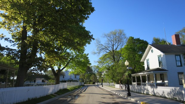 Street in the early morning, Mackinac Island, Michigan