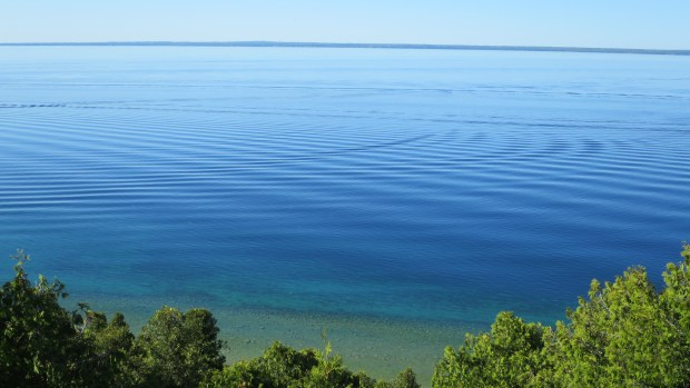 View from West Bluff, Pontiac Trail, Mackinac Island, Michigan