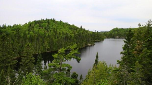 Orphan Lake overlook, Orphan Lake Trail, Lake Superior Provincial Park, Ontario, Canada