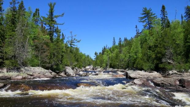 Sand River, Pinguisibi Trail, Lake Superior Provincial Park, Ontario, Canada