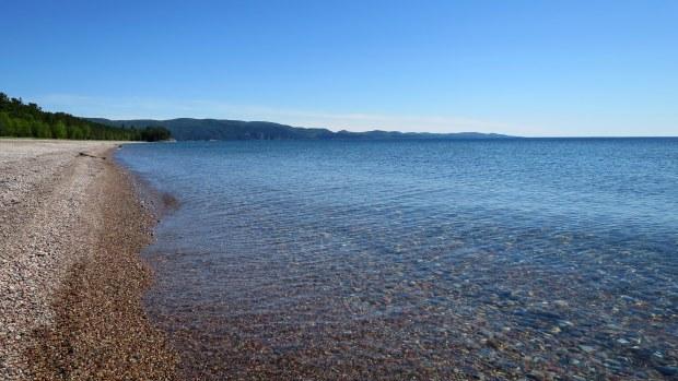 Sunny afternoon walk near camp, Lake Superior Provincial Park, Ontario, Canada