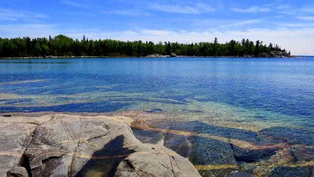 Igneous intrusions, Katherine Cove, Lake Superior Provincial Park, Ontario, Canada