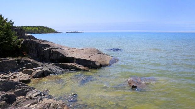 View into Lake Superior, Beach Trail, Pukaskwa National Park, Ontario, Canada