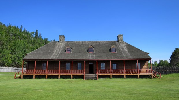 Reconstruction of The Great Hall, originally built in 1785 for dining and meetings of the North West Company, Grand Portage National Monument, Minnesota
