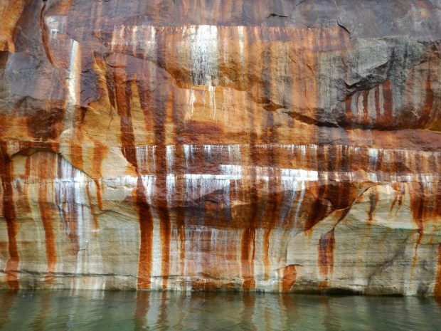 Mineral stains, Pictured Rocks National Lakeshore, Michigan