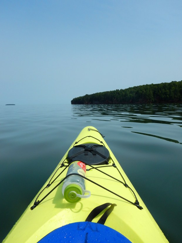 Setting off from Meyer's Beach and crossing the bay, Apostle Islands National Lakeshore, Wisconsin